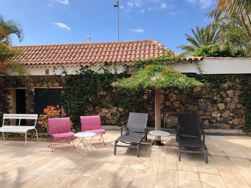 Villa Trece Piedras - terras bij het zwembad