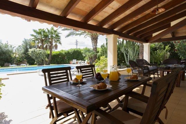 Villa Canaves - overdekt terras
