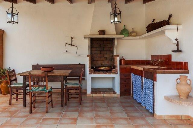 Villa Encis - buitenkeuken