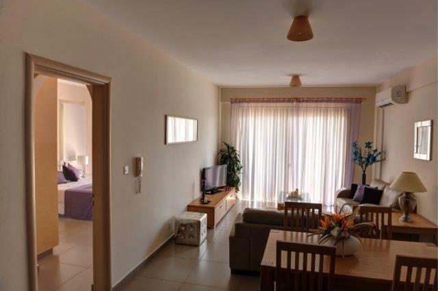 Appartementen Aphrodite Sands - woonkamer