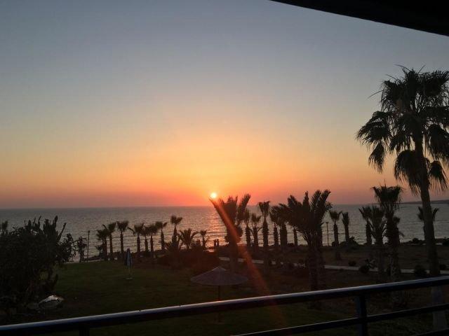 Appartementen Helios Bay - zonsondergang
